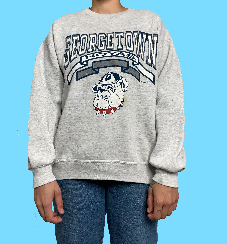 Georgetown Hoyas Sweatshirt 1989 Vintage 80s Jerzees Crewneck Sweater Vtg American Collegiate Pullover Made I Vintage Sportswear Promo Shirts Crew Neck Sweater [ 3000 x 2790 Pixel ]