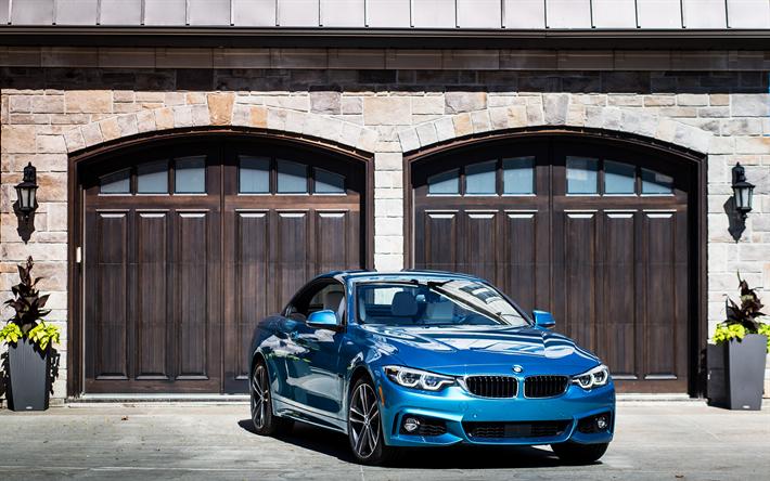 Download Wallpapers BMW 440i Cabriolet, 4k, 2018 Cars, BMW