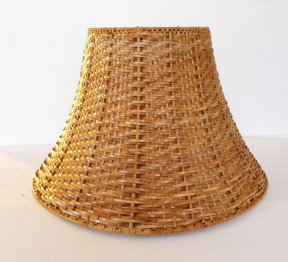 Ikea Wicker Lamp Shade Never Used Brown Natural Rattan