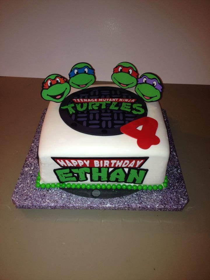 Amazing Ninja Turtle Birthday With Images Ninja Turtle Birthday Cake Funny Birthday Cards Online Aeocydamsfinfo