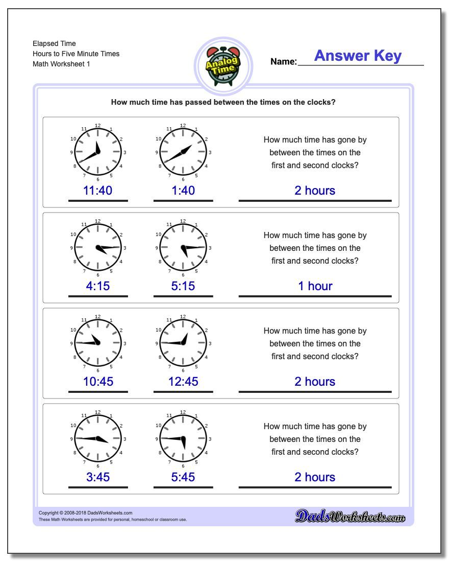 medium resolution of Start From Five Minute Intervals Analog Elapsed Time Worksheet   Elapsed time  worksheets