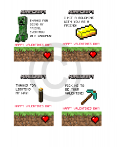 Minecraft Valentines Day Cards 1 Minecraft Pinterest