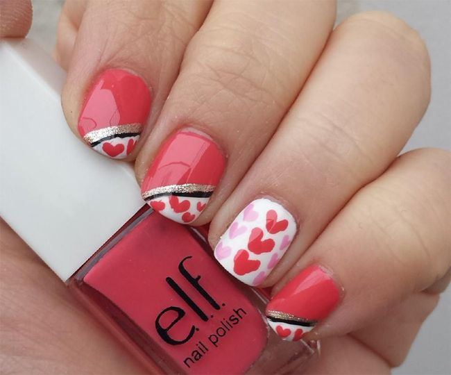 Fancy Heart Nail Paint Design for Inspiration | Nail Art | Pinterest ...