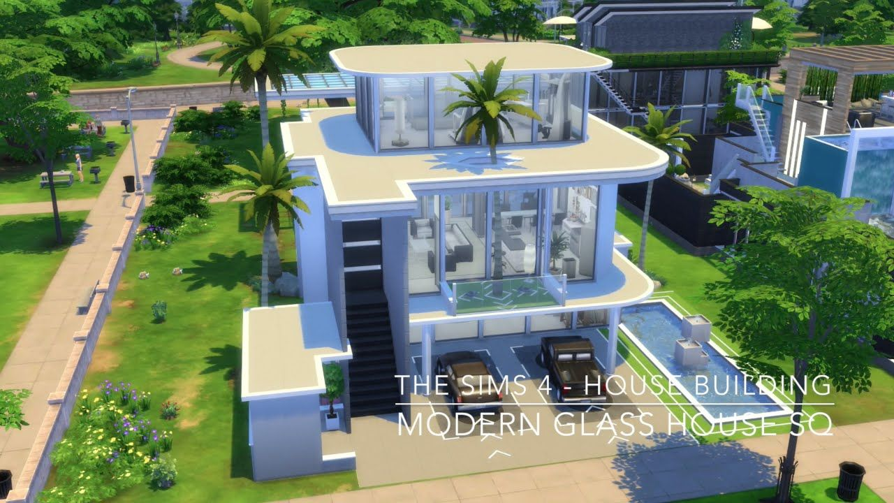 The Sims 20 - House Building - Modern Glass House SQ  Modern glass