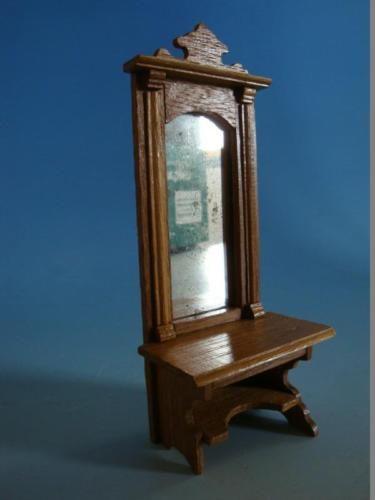 1115a1 461 garderobe eiche mit spiegel um 1900 little furniture coat racks hall trees and