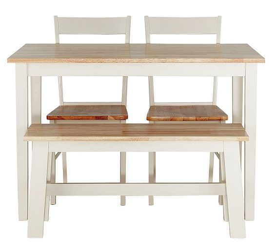 Buy Argos Home Chicago Solid Wood Table, 2 Chairs & Bench ...