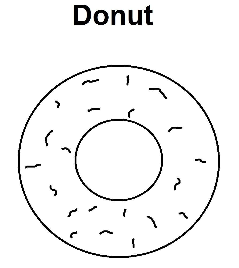 Donut : Donut Coloring Page   Saxon Phonics printable   Pinterest ...