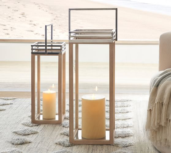 Rivington Mango Wood Lanterns Pottery Barn In 2020