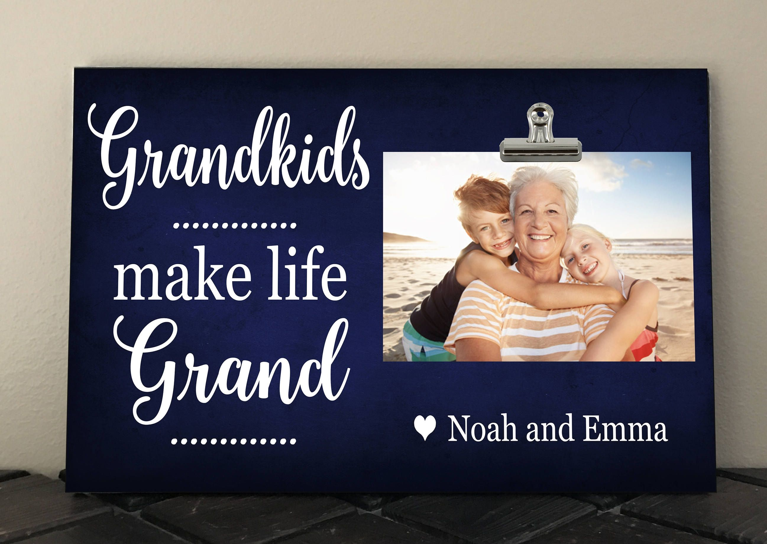 GRANDKIDS make life Grand, Personalized Free, Gift for Grandmother ...
