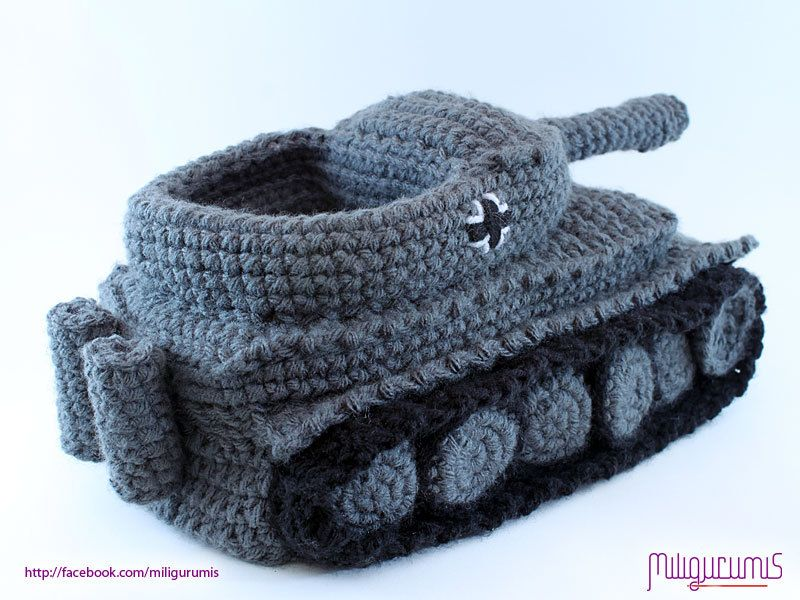 PATTERN for Tiger 1 Tank - Panzer Crocheted Slippers | Crocheted ...