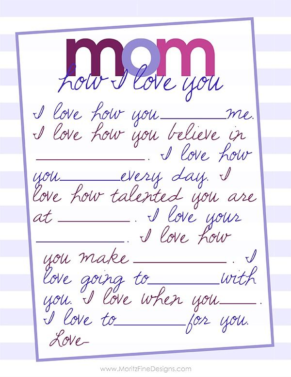 Last Minute Mother S Day Gift Free Printable Mother S Day Printables Mothers Day Crafts Mother Day Gifts