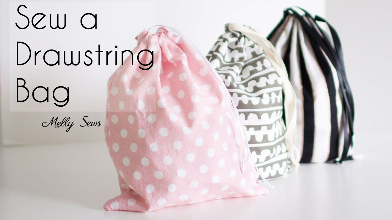 Learn to Sew a Drawstring Bag Beginner Sewing Project