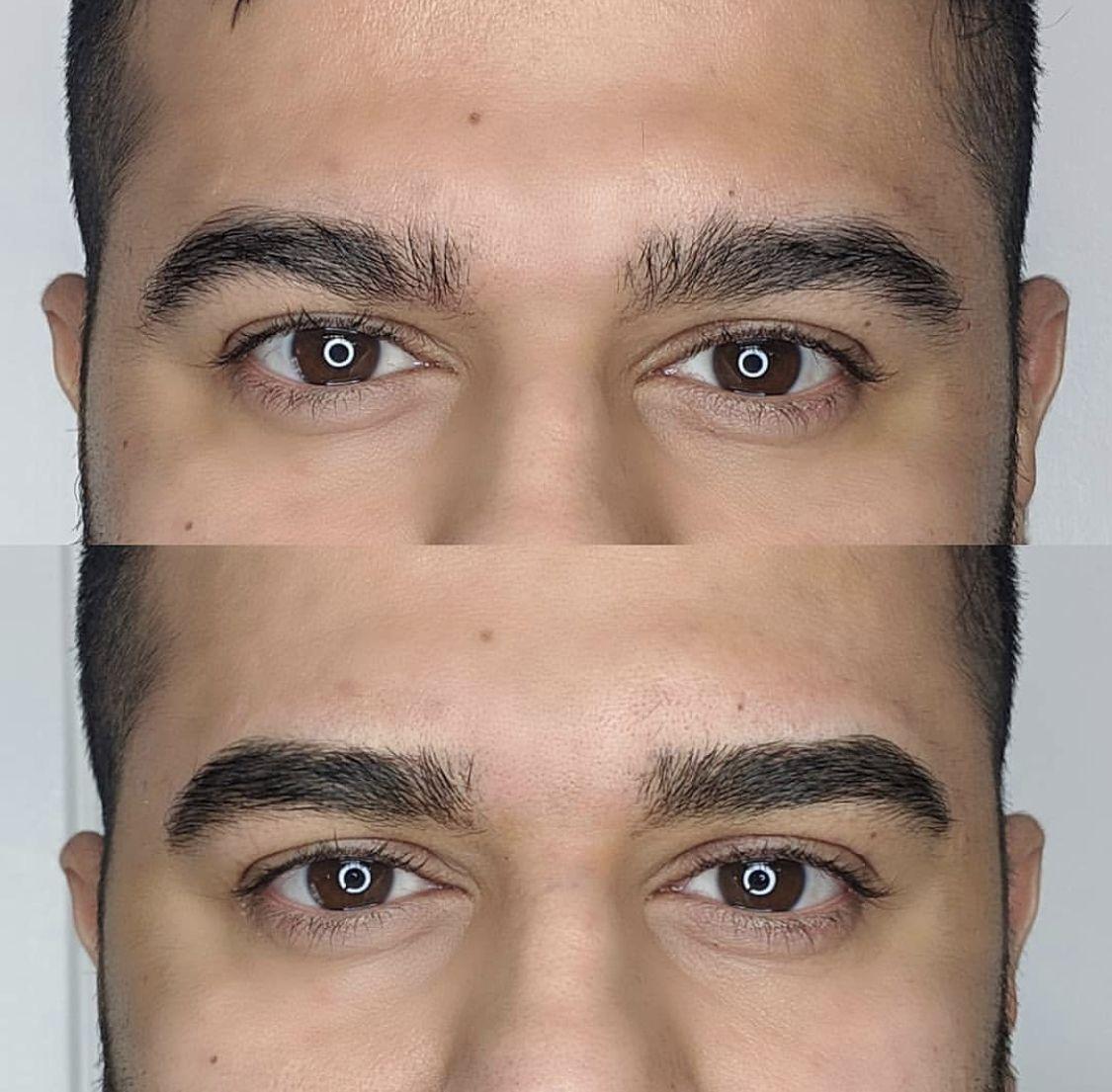 Mens Eyebrow Microblading