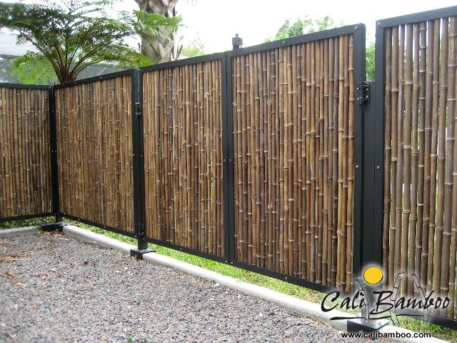 Cali Bamboo Fencing 6ft X 8ft Black 1 Inch Diameter Cali Bamboo Fence Design Backyard Fences Bamboo Fence