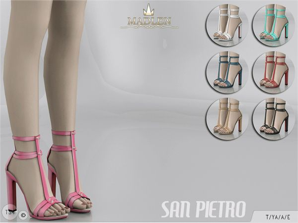 Madlen San Pietro Shoes by MJ95 at TSR via Sims 4 Updates