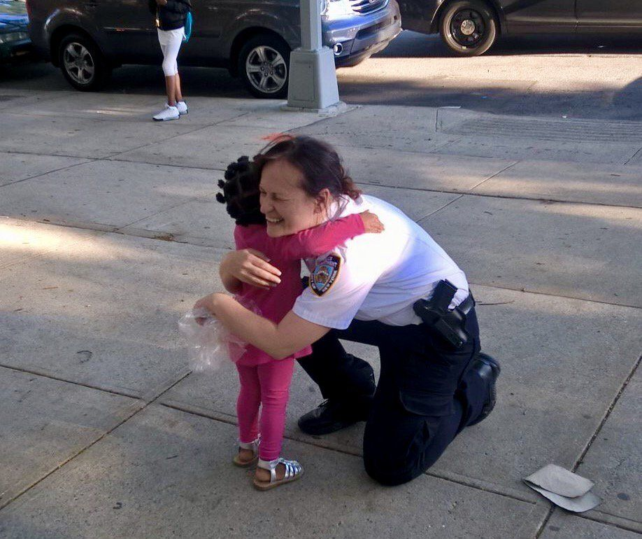 """NYPD NEWS on Twitter: """"Sometimes you just need a hug! And the smiles say it all. #NYPDconnecting @NYPDPSA8 https://t.co/AF0u7VDroZ"""""""