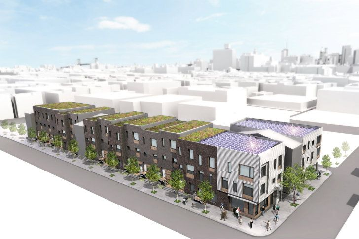 Folsom Powerhouse A Mixed Income Green Development For Center City Philadelphia Center City Green Roof Urban Housing