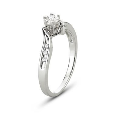 diamond accent promise ring sterling silver jcpenney - Jcpenney Rings Weddings