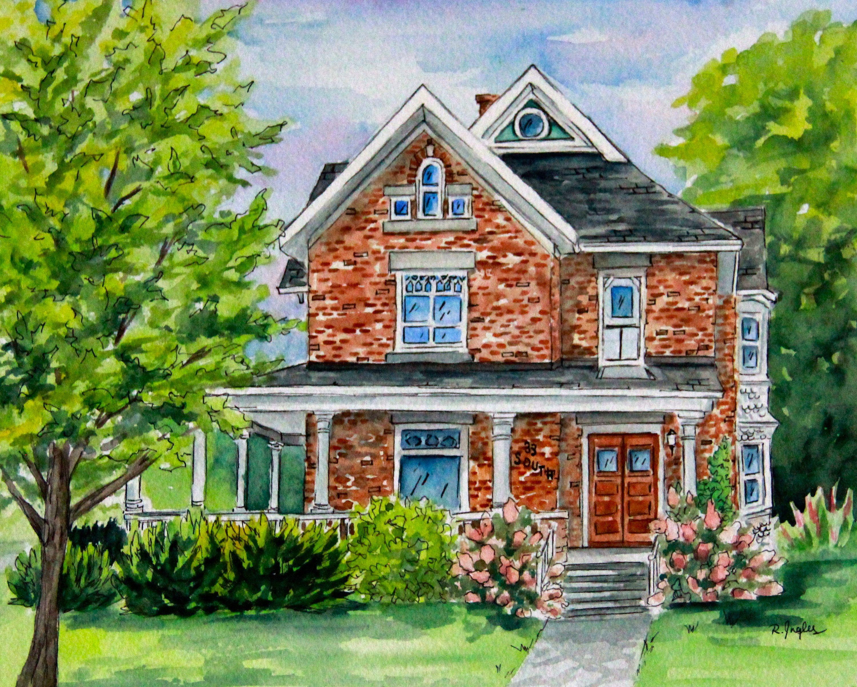Custom Hand Painted Watercolor