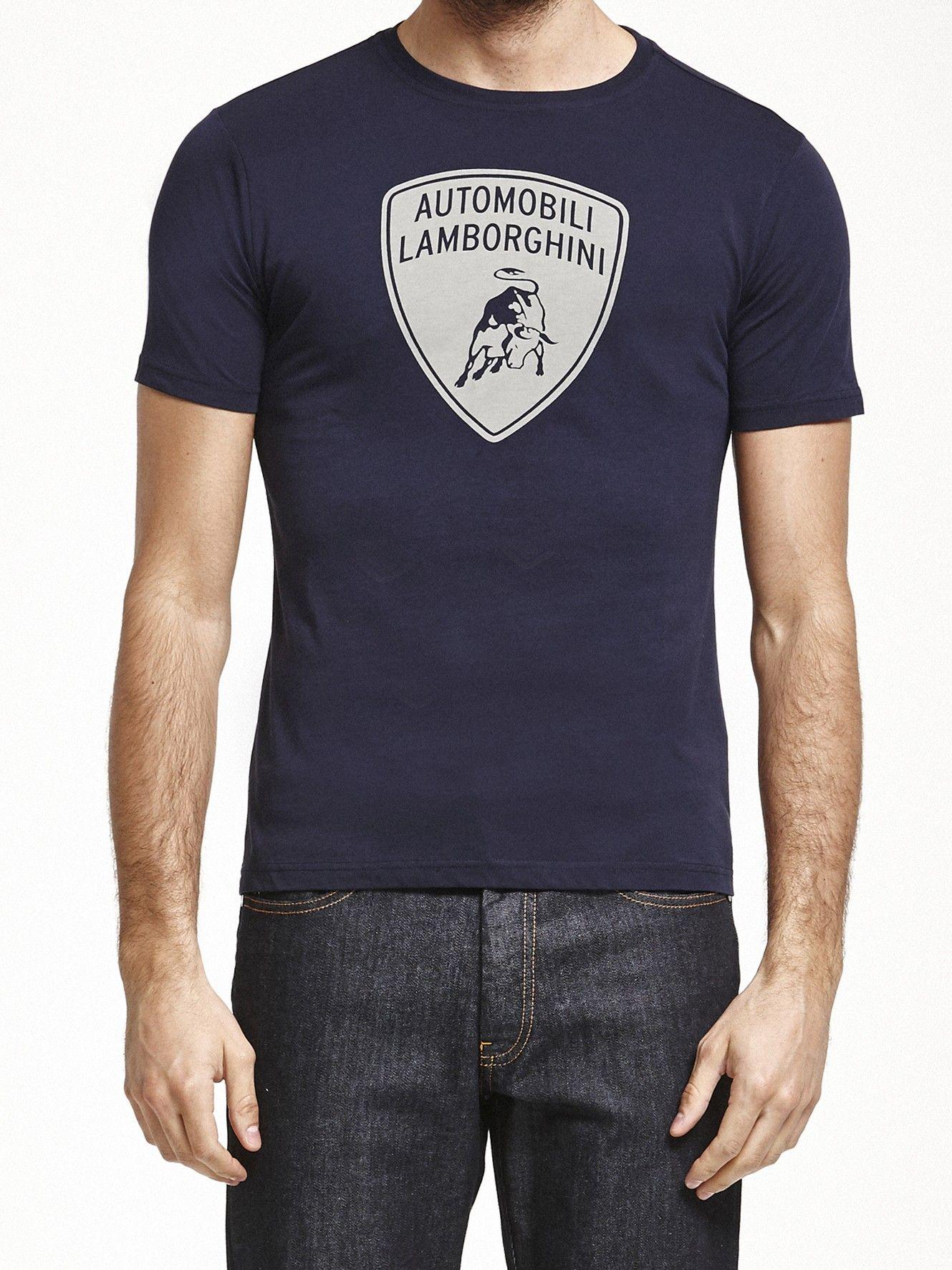 blue shield t shirt collezione automobili lamborghini. Black Bedroom Furniture Sets. Home Design Ideas