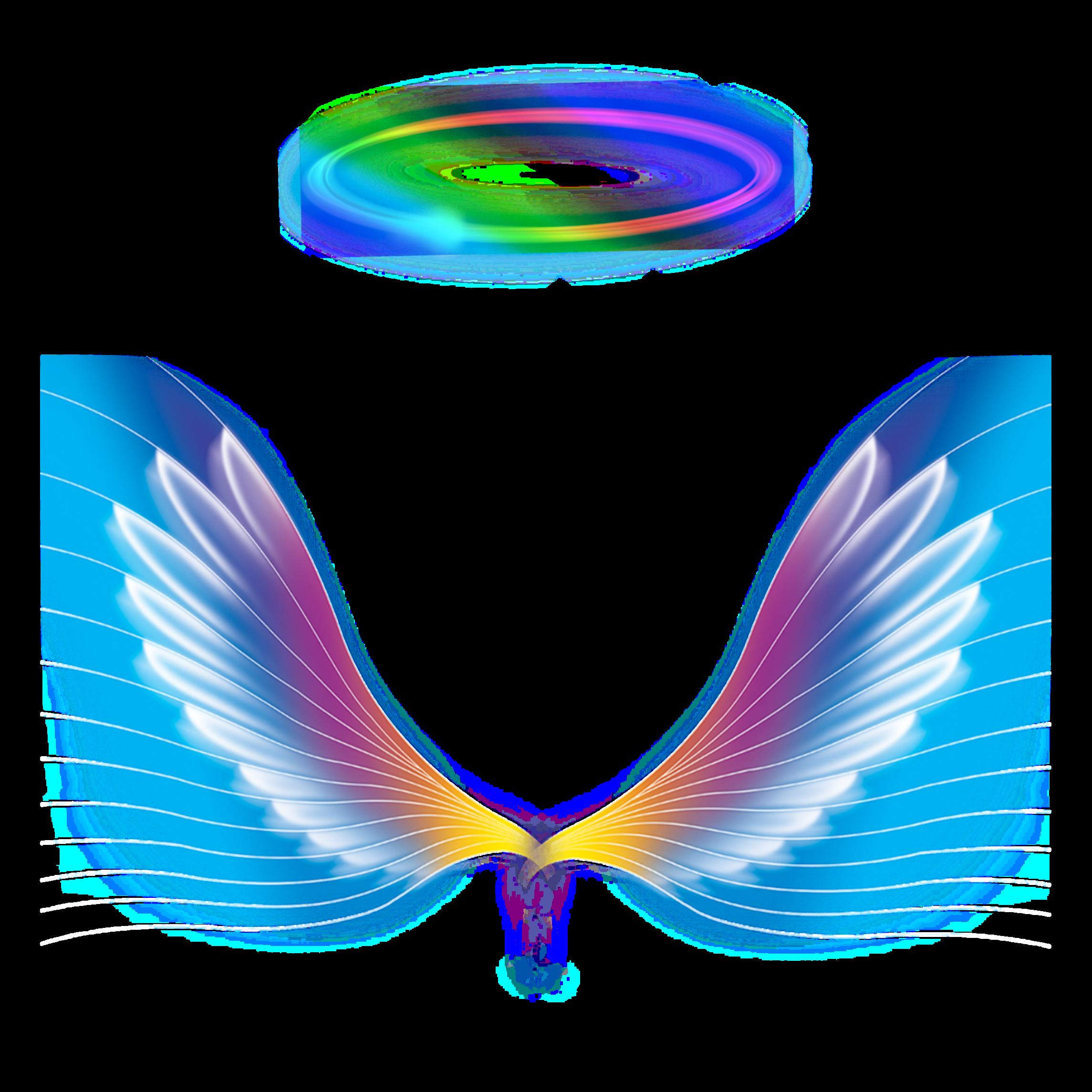 Freetoedit Angel Wings Halo Rainbow Colorful Galaxy Colorfulangel Colorfulwings Colorfulhalo Remixi Angel Wings Images Angel Wings Halo Halo Tattoo