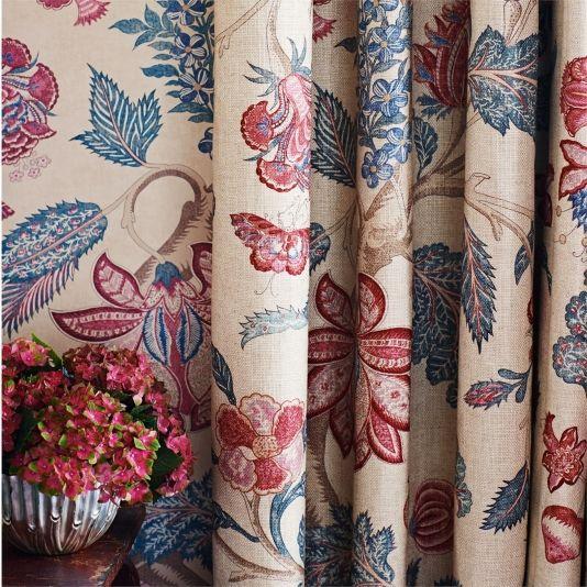 Kalamkari Fabric Kalamkari Fabric Custom Made Curtains Fabric