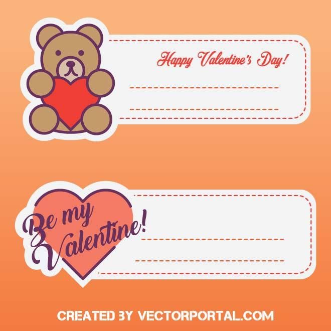 Labels For ValentineS Day Vector  Love Vectors