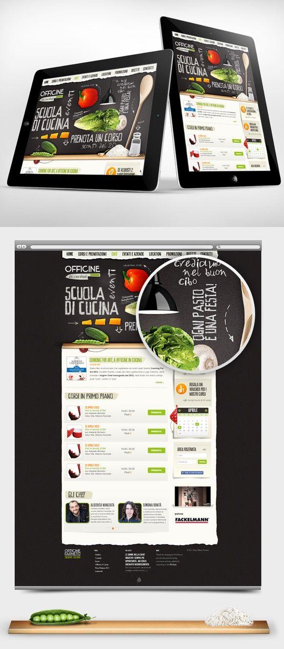 Officine in Cucina - Web interface Design by Gaia Zuccaro, via ...