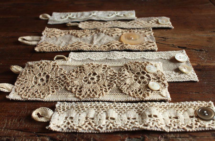 Style Diaries Lace Doilies Lace Crafts Fabric Bracelets Lace Doilies