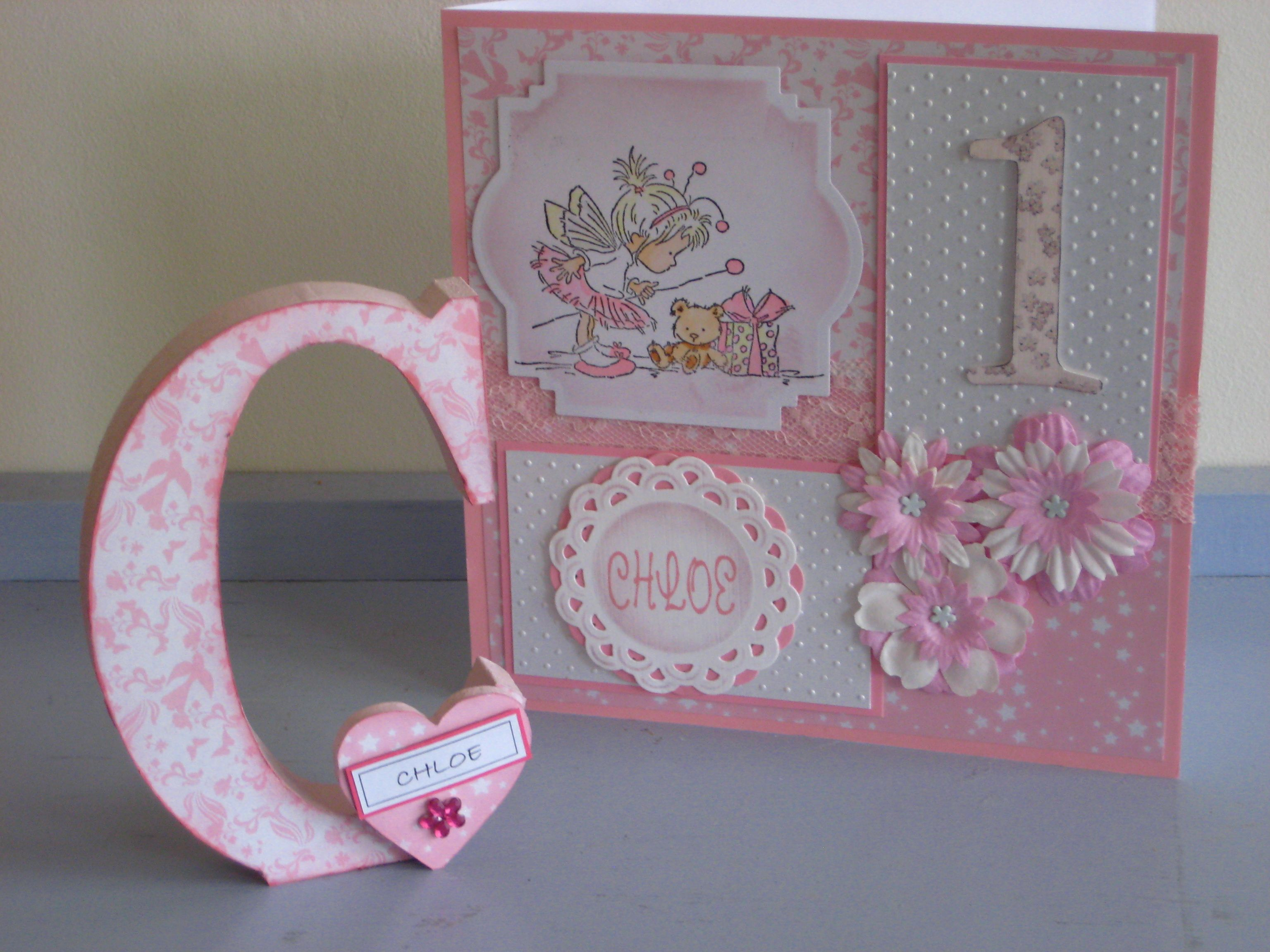 Card and gift for a lovely little girl Cards Pinterest Cards
