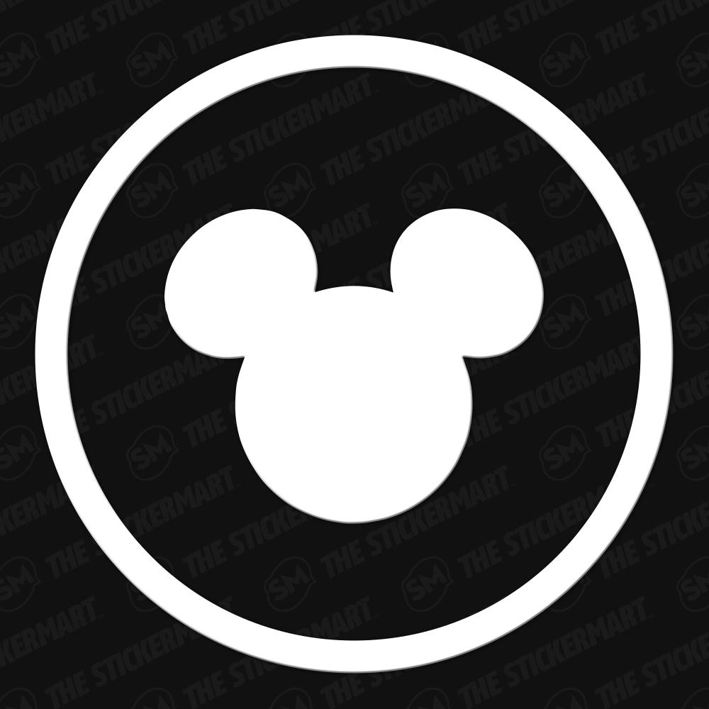 Disney Mickey Head Circle Vinyl Decal Disney Decals Vinyl Decals Mickey Head [ 1000 x 1000 Pixel ]