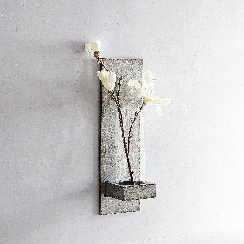 Magnolia Home Galvanized Hanging Vase Sconce Hanging Vases Magnolia Homes Candle Wall Sconces