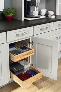 Roll Out Tray Base Cabinet Kitchen Drawer Organizers