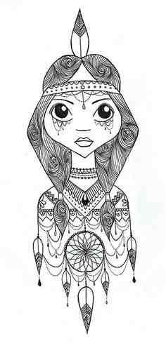 peter pan indian princess coloring pages | Really want a princess tiger lily tattoo, something that ...