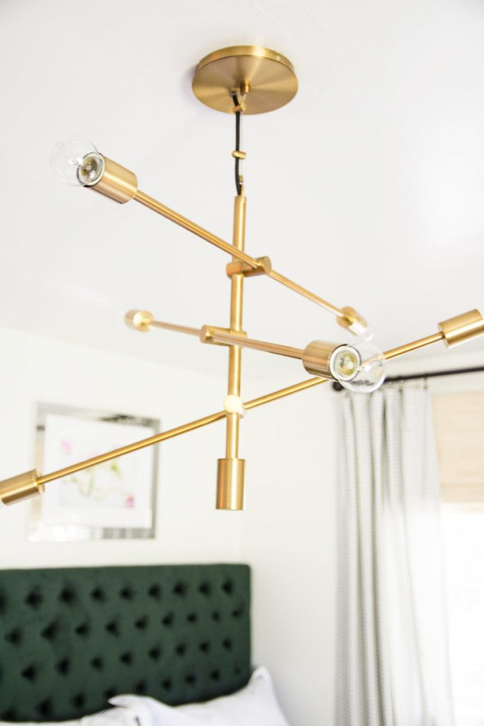 Pretty Gold Mobile Chandelier From West Elm On Thou Swell Thouswellblog