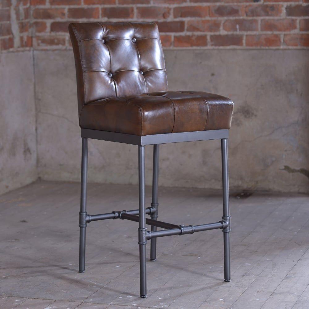 Vintage Leather Bar Stools Hocker Leder Barstuhle Barhocker Leder