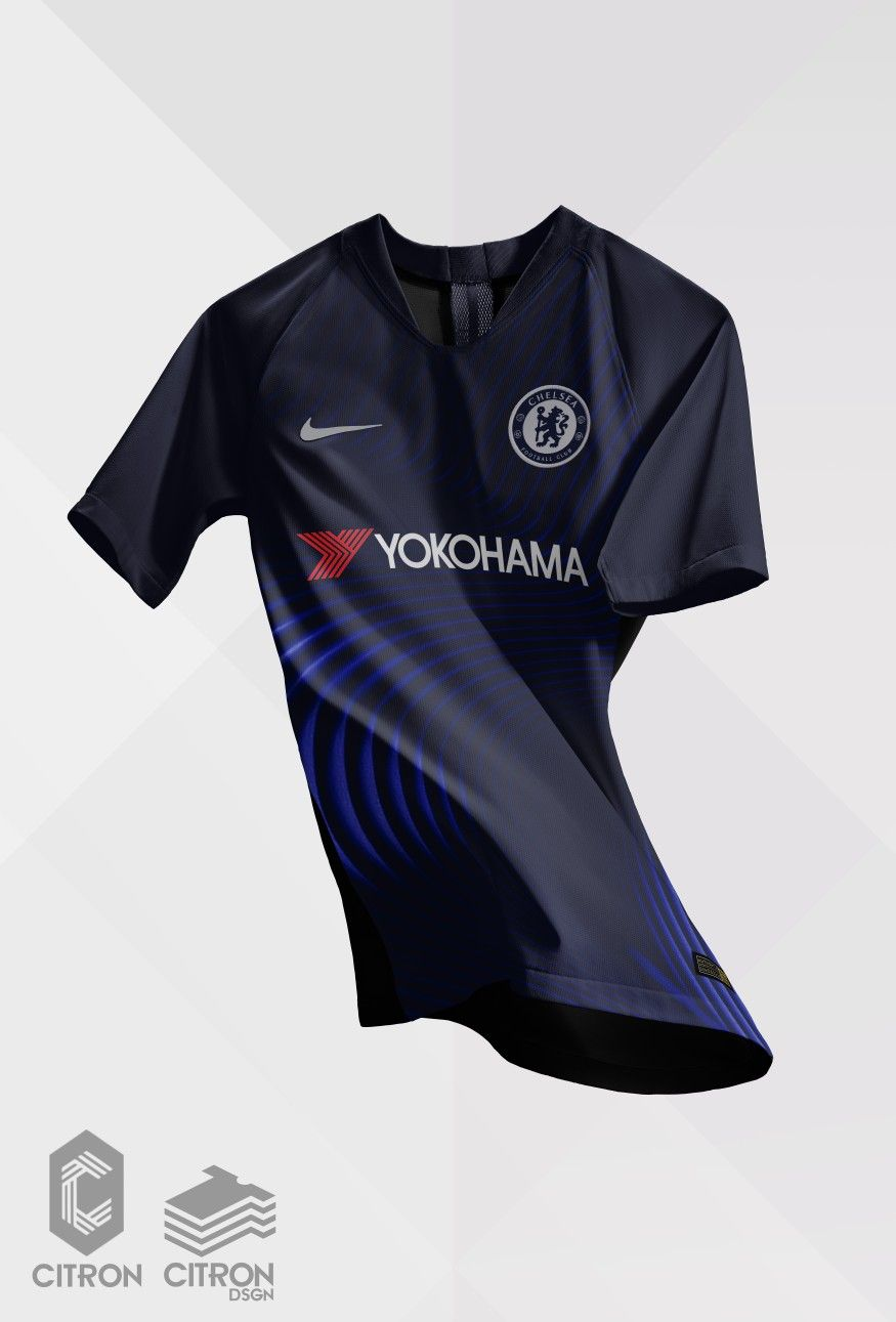 fcf8dd14d62 Chelsea Football Club Nike Vapor Knit Strike Third Kit 2018-19 ...