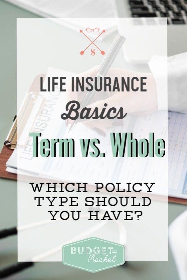 Term Life vs. Whole Life Insurance Simplified   Whole life ...
