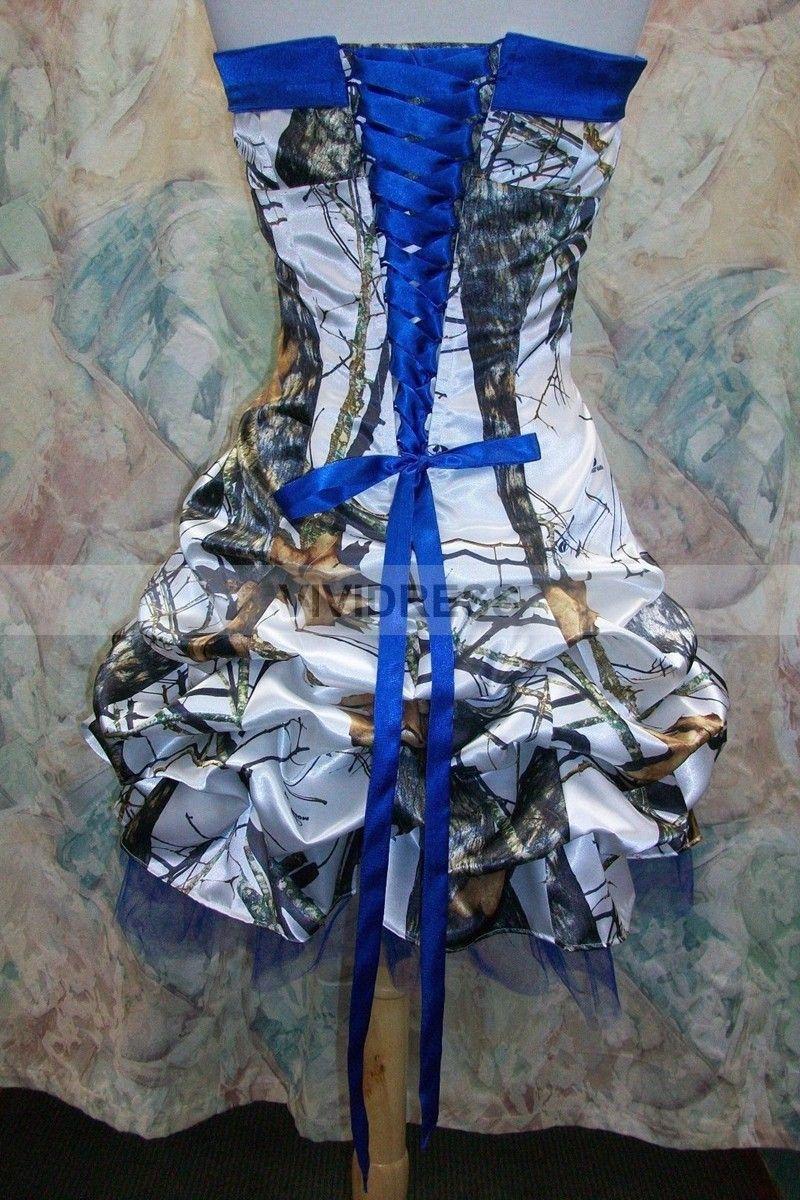 Camo wedding dress camo and blue wedding dresses for Camo ribbon for wedding dress