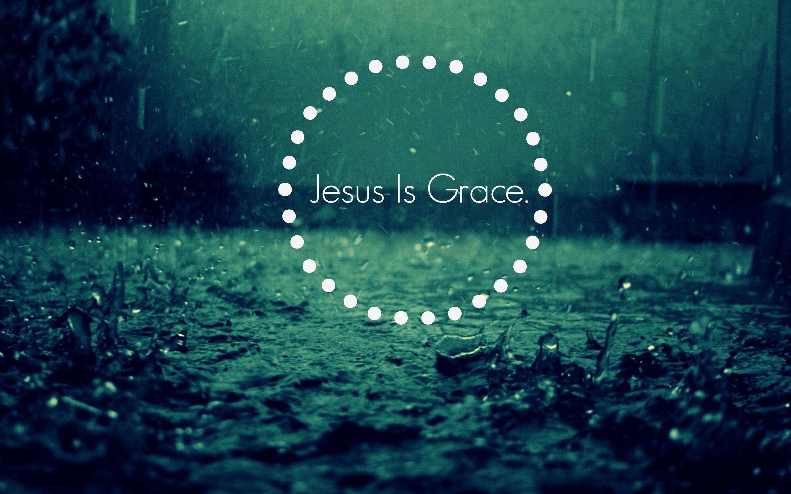 jesus is grace falling rain background with sound rain drops keep