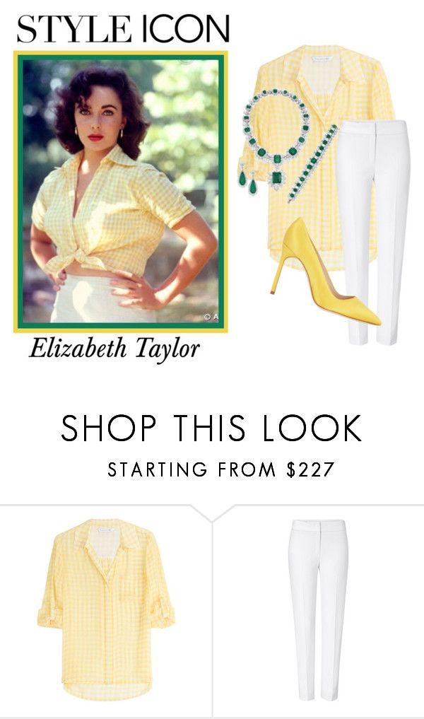 """Who Is Your Style Icon?"" by teez-biz-nez ❤ liked on Polyvore featuring Diane Von Furstenberg, ESCADA, Elizabeth Taylor, Manolo Blahnik and styleicon"