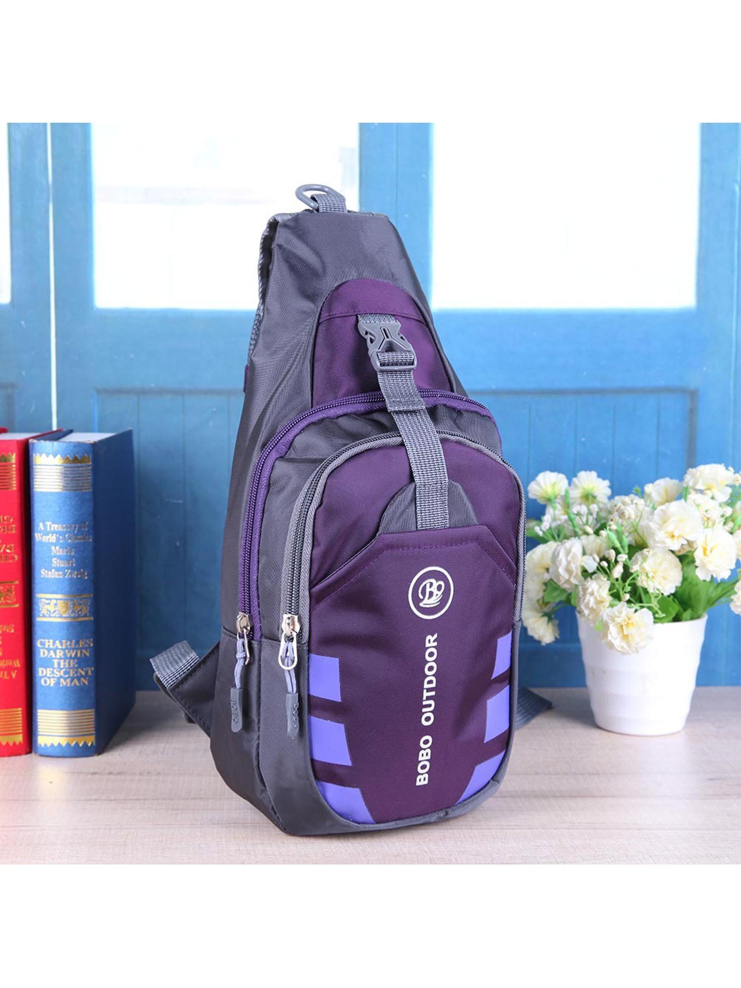 Women Chest Bag Outdoor Sport Travel Shoulder Sling Backpack Pouch  Waterproof PurpleWomen Chest Bag Outdoor Sport