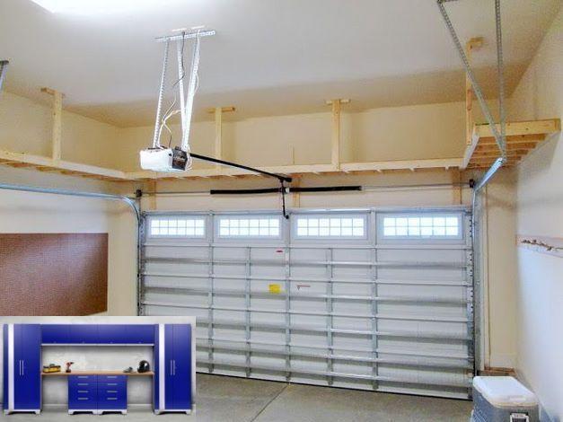 Diy Overhead Garage Storage Pulley System And Garage Organization Golf Clubs Diy Overhead Garage St En 2020 Idee Deco Garage Organisation De Garage Idee Rangement
