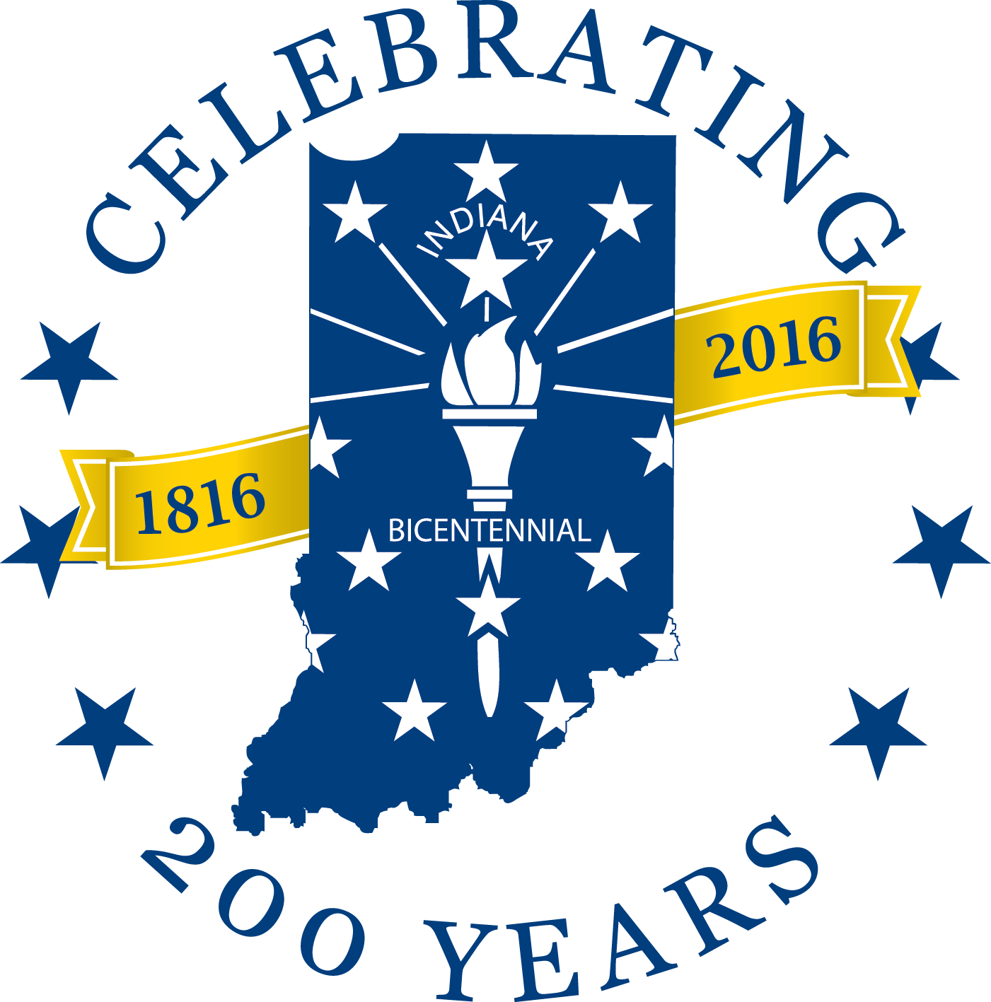 Indiana Bicentennial Commission Logo Indiana Hoosiers Logos