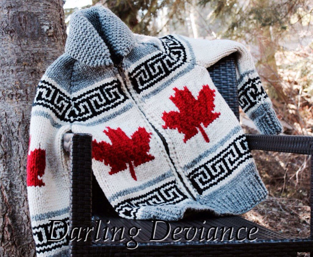 Show off your national pride - 2017 marks Canadas 150th!!! Were now booking for mid-February completion.  Lovingly hand-knit, beautiful and soft (not scratchy!) Classic wear, perfect for those cold winter days or for when youre out and about with family hiking, camping, hunting or fishing! Knit from 100% pure Canadian wool, these sweaters are naturally water proof, and never go out of style! A true piece of Canadian Heritage. These sweaters are made to order. I only make a certain amount of…