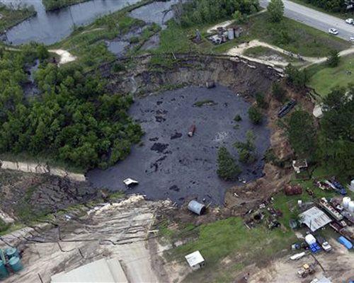 12 amazing sinkholes: Daisetta, Texas