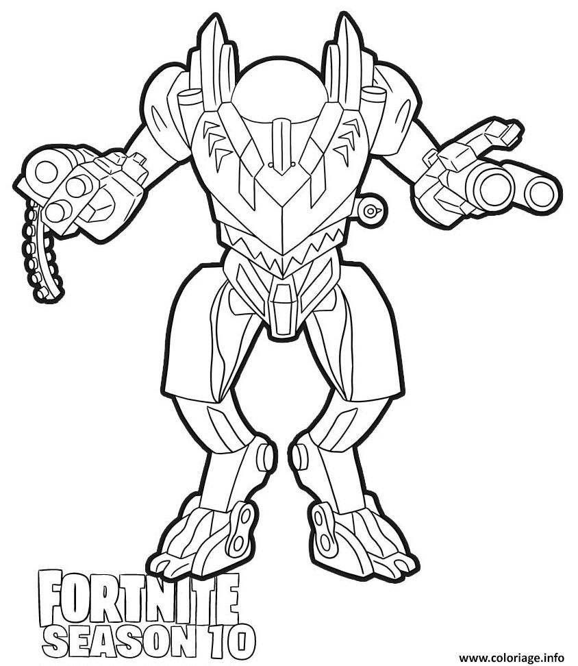 Coloriage Brute Mech Fortnite Season 10 à imprimer