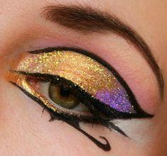 Egyptian Inspired Eye Makeup Trucco Occhi Per Halloween, Occhi Da  Halloween, Trucco