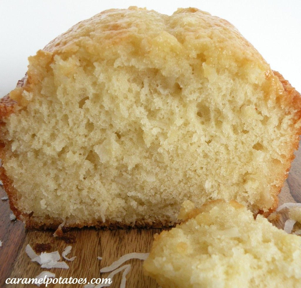 Glazed Coconut Bread - maybe add a drizzle of chocolate or some chopped cherries to the mix??  Mmmmm