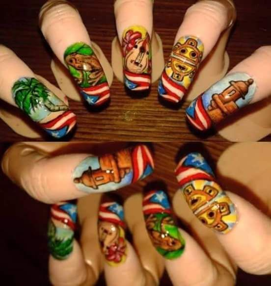 Puerto Rico Nail Art A Passion For Fashion Pinterest